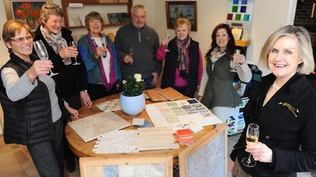 Openning of Stone Tile Gallery in Wickham market that combines natural stone tiling, interiors and A
