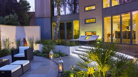 The 'contemporary curved courtyard' in Ipswich for which Sue Townsend won the 'small residential gar