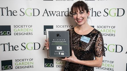 Sue Townsend at the Society of Garden Designers Awards a few weeks ago