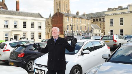David Nettleton is calling for Angel Hill/Cornhill in Bury St Edmunds to be pedestrianised.