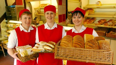 Wendy Leader, Tina Harper and Kylie Osborne from the Tudor Bakehouse in Harleston. Picture: Nick But