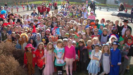 Pupils at Sir Robert Hitcham's Primary School in Framlingham dress up as characters from their favou
