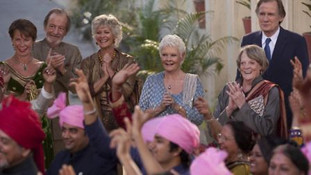 The Second Best Exotic Marigold Hotel - Celia Imrie as Madge Hardcastle, Ronald Pickup as Norman Cou