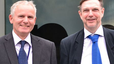 Silicon Safe founders Roger Gross and Dr Will Harwood outside the company's base at Innovation Martl
