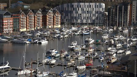 The new Genesis Housing apartments on Stoke Quay in Ipswich.