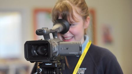 As part of World Book Day, pupils at Kesgrave High School took part in a media day , interviewing te