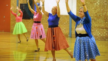 The charity Wiggle-A-Thon at East Bergholt Sports Centre raising money for Age UK.