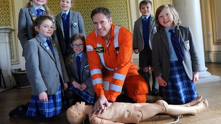 Paramedic Neil Flowers is at Moreton Hall Prep School in Bury where he is talking to pupils about CP