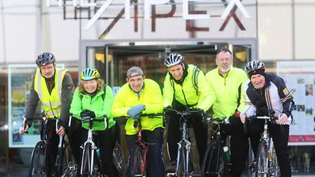 Suffolk's Year of Cycling launch event at the Apex, Bury St Edmunds. No names.