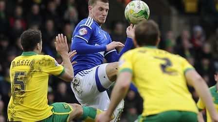 Chris Wood came on as a sub at Carrow Road