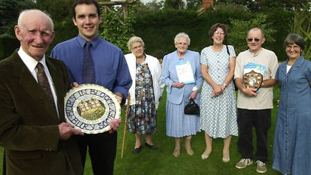 From The Archives West Bury in Bloom Plate and Trophy presentations . September 2000 EADT CD