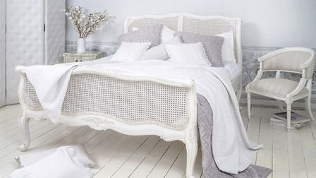 Provencal White Rattan - The French Bedroom Company