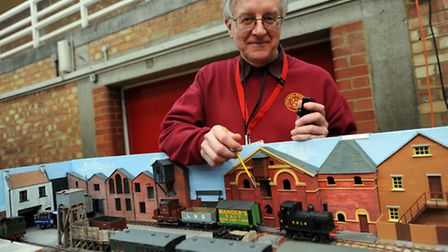 The model railway exhibition at Mid Suffolk Leisure Centre in Stowmarket. Andrew Jones with his mode