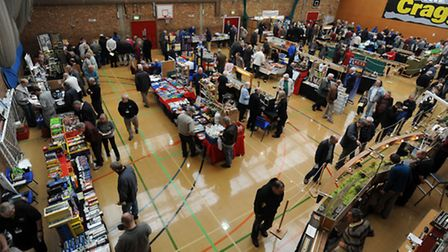 The model railway exhibition at Mid Suffolk Leisure Centre in Stowmarket.