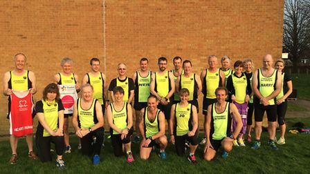 Some of the Stowmarket Striders who are taking part in marathons this spring