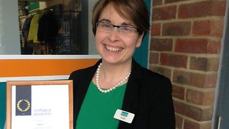 Angela Rushforth, managing director of Ridgeons, with the firm's Investors in People gold accreditat