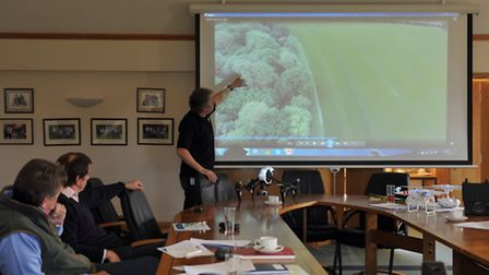 Fram Farmers conference about Drones.