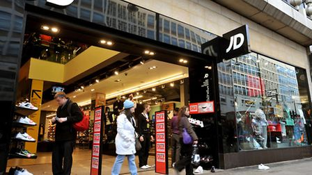 A JD Sports store in London's Oxford Street.