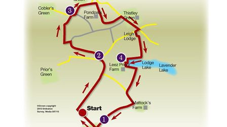 Route of the Littley Green walk