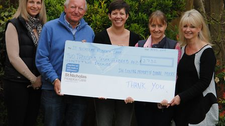 Jayne Ashworth, Vince Moore, Sharon Ungless, Debbie Frost and Shelagh Lock with the funds they raise