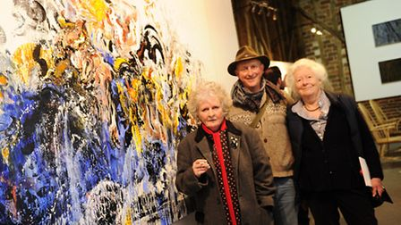 Opening of The Alde Valley Spring Festival at White House Farm Great Glemham with Maggi Hambling