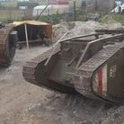 Norfolk Tank Museum's Deborah, left, with Big Brute. Both are First World War MK IV tanks. Picture: