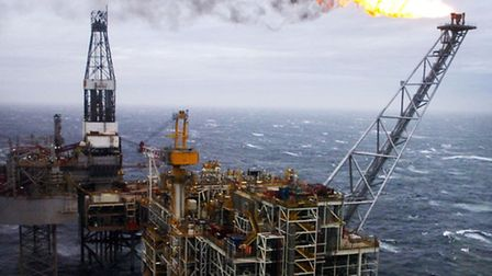 An oil rig in the North Sea - workers are considering working abroad.