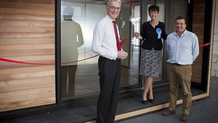 Mark Pendlington, chairman of New Anglia LEP, Jo Churchill, Conservative candidate for the Bury St