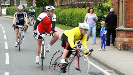 Cyclists taking part in the Suffolk Sunrise 100 bike ride for children's charity Action Medical Rese