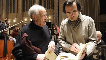 Pierre-Laurent Aimard, artistic director, with Pierre Boulez, this year's featured composer at the A