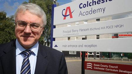 Colchester Academy's Principal Barry Hersom.