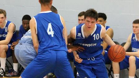 Ipswich's Rory Winter in action for the under 18s
