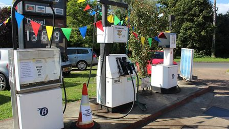 The fuel pumps at the Bowman Brothers Garage. Picture: Marc Betts