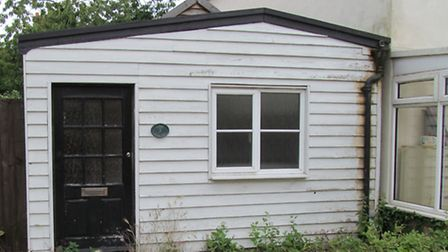 The illegal extension at 3 Lane Cottages, Mistley, before it was eventually demolished.