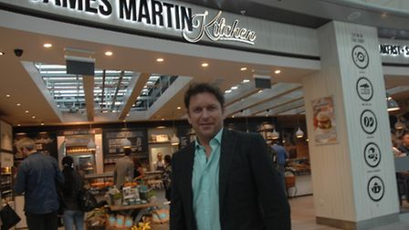 Top chef James Martin at the launch of his new eatery at Stansted Airport.