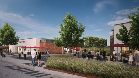 Artist's impression of Stane Park development in Stanway, phase 1b
