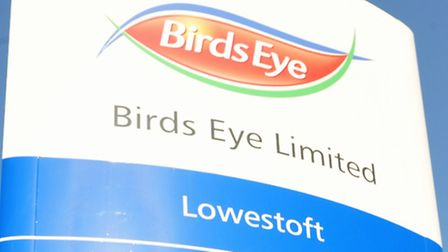 Signage outside the Birds Eye factory in Lowestoft.