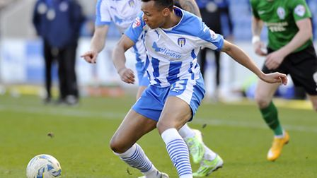 Jacob Murphy, who gave Colcheter United the lead after just 37 seconds against Swindon