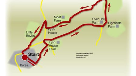 Route of the Bures walk