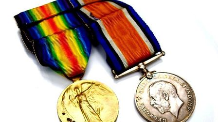 First World War medals will be amongst the auction items used in the talk given by Dr John Greenacre