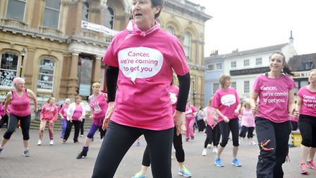 Race for Life fundraise with a Zumba flash mob in the Ipswich Cornhill on Sunday, 19 April.