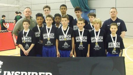 Ipswich Basketball Club u13s at the National Final Four