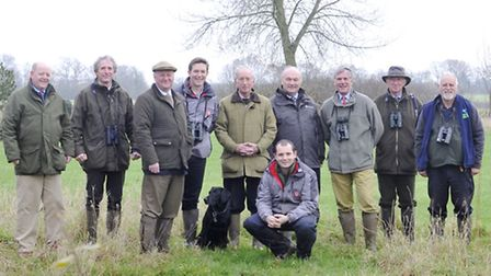 Farmers, the Game and Wildlife Conservation Trust, former agriculture minister Jim Paice MP gathered