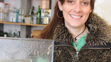Anita Honeyball, an artist who works with recycled glass, has created the trophies for this year's G