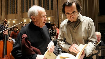 Pierre-Laurent Aimard working with Pierre Boulez, one of the great modernists of the last 70 years,