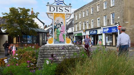 Diss Town sign. Picture: DENISE BRADLEY