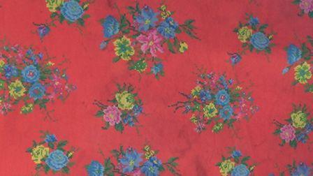 The table cloth found during police enquiries which officers are keen to trace the owners of