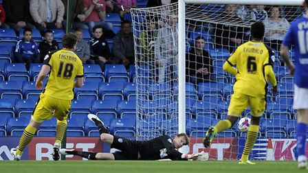 Chris Lewington had an unfortunately very busy U's league debut at Chesterfield tonight