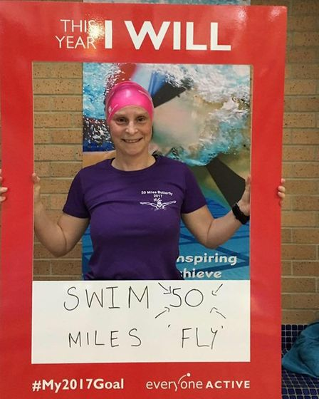 Swimmer Nikki Hambling who has swum 50-miles doing solely the butterfly. Picture: Everyone Active