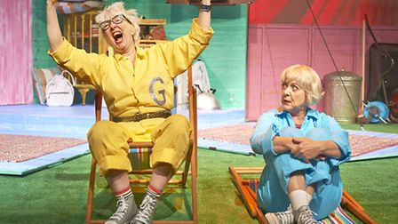 Jenny Eclair and Susie Blake in Grumpy Old Women Fifty Shades of Beige